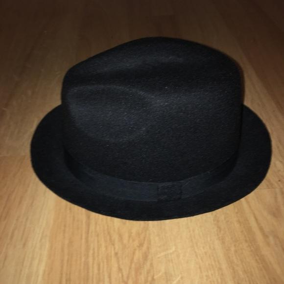 Vintage Other - Vintage Black Fedora Hat